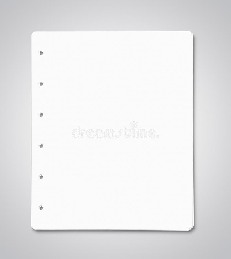 Lege document bladen met exemplaarruimte royalty-vrije stock foto's