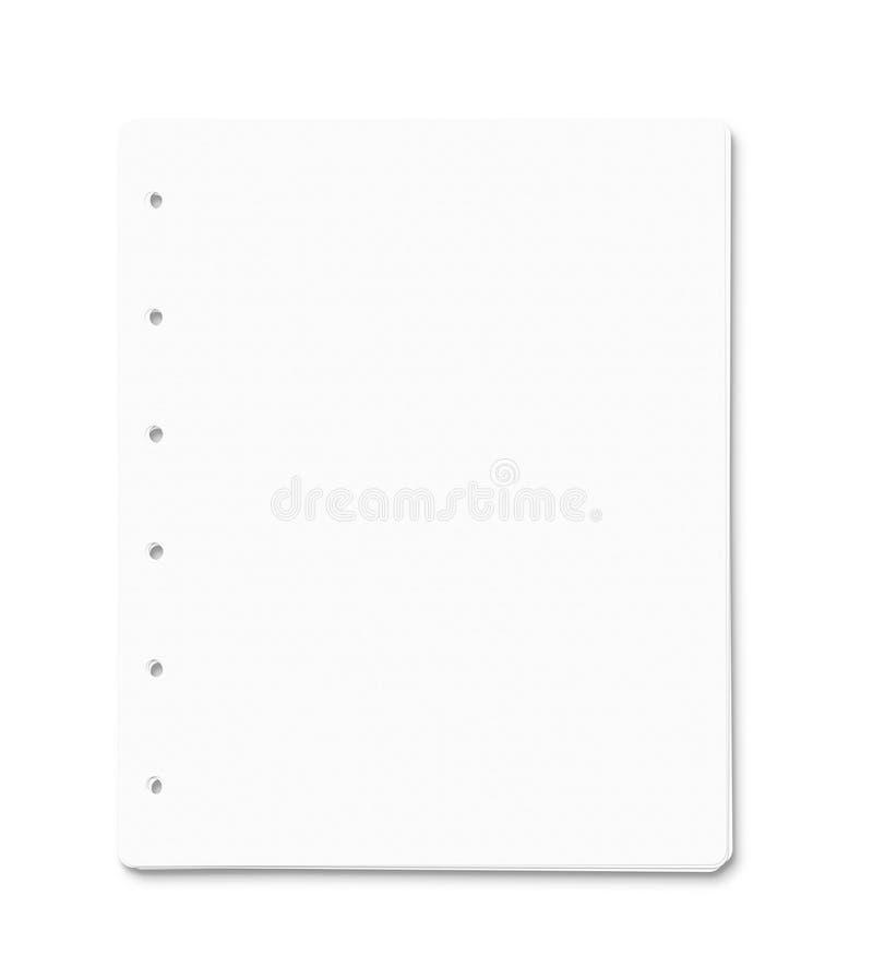 Lege document bladen met exemplaarruimte royalty-vrije stock foto