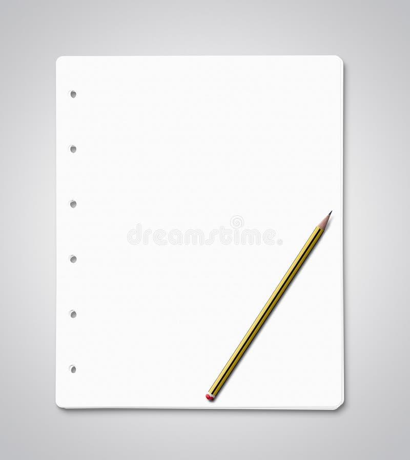 Lege document bladen met exemplaarruimte stock foto