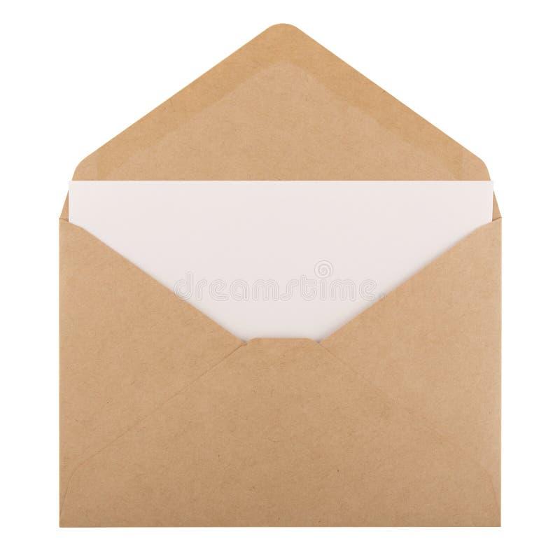 Lege document en envelop stock afbeelding