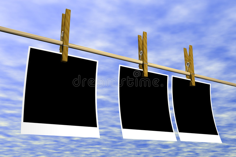 Lege document polaroid stock illustratie