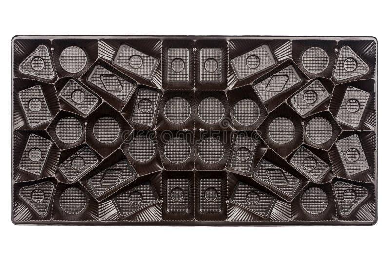 Lege doos chocolade stock foto