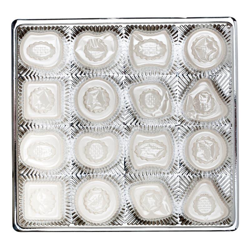 Lege doos chocolade royalty-vrije stock afbeelding
