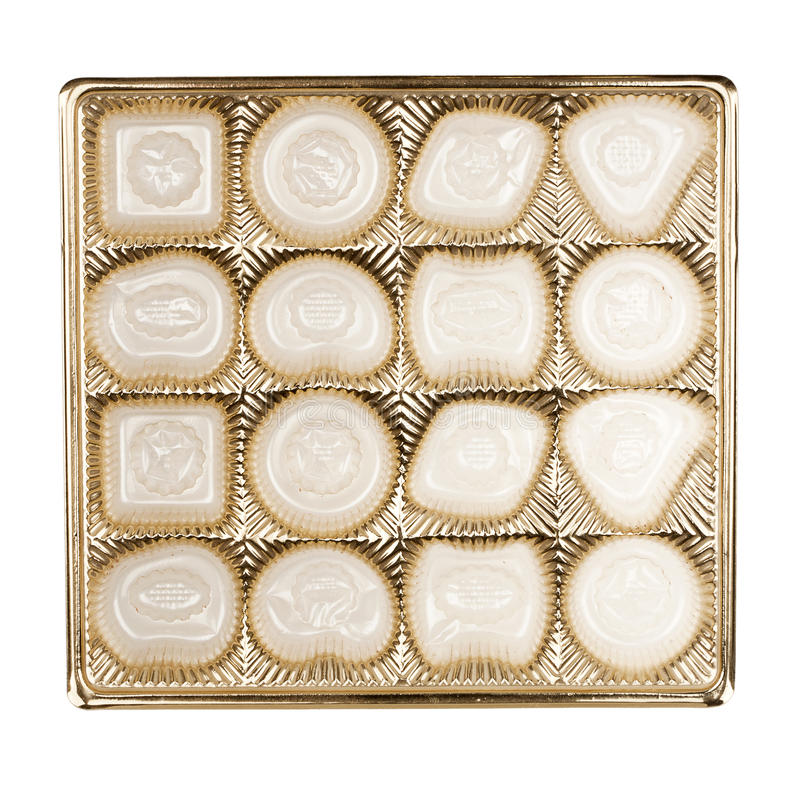 Lege doos chocolade royalty-vrije stock foto