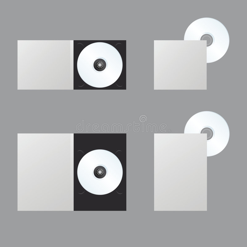 Lege DVD, Blueray, CD, Schijf vector illustratie