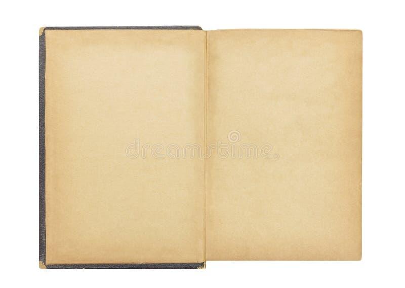 Lege Eerste Pagina in Uitstekend Antiek Boek stock foto's