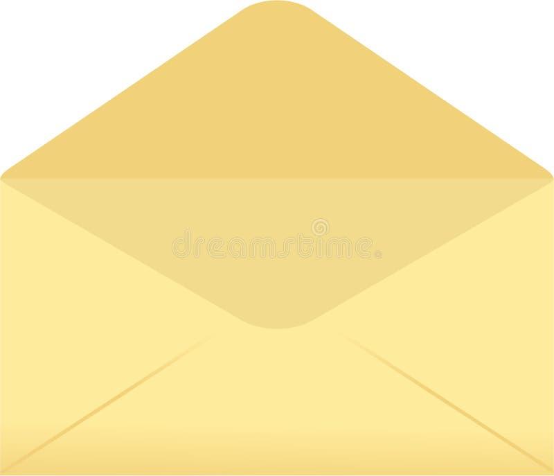 Lege envelop vector illustratie