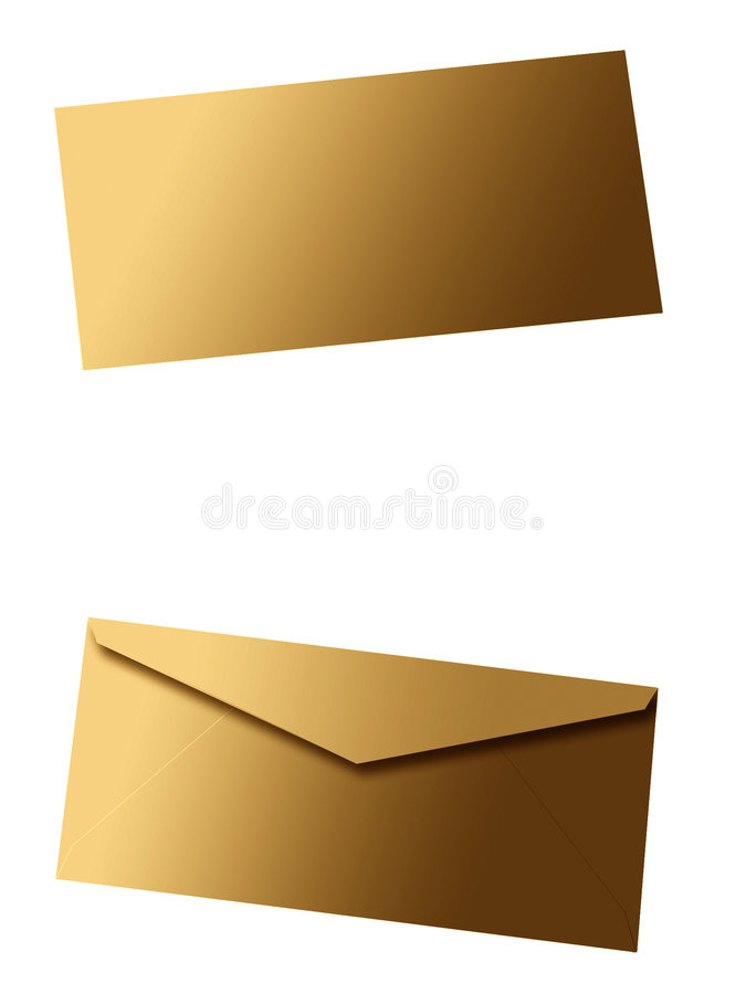 Lege envelop II royalty-vrije illustratie