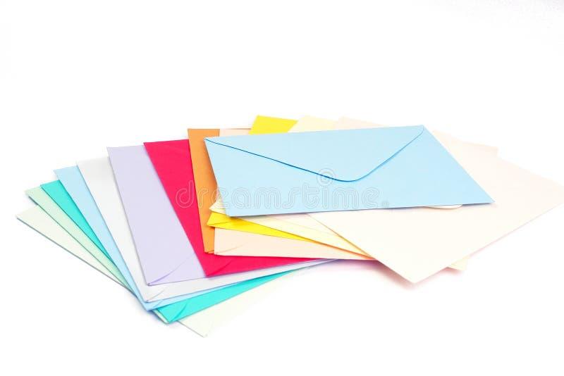 Lege enveloppen stock foto