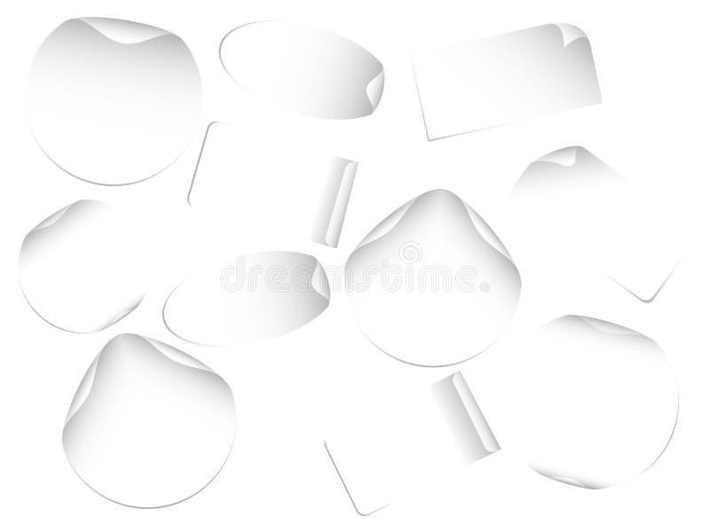 Lege etiketten vector illustratie