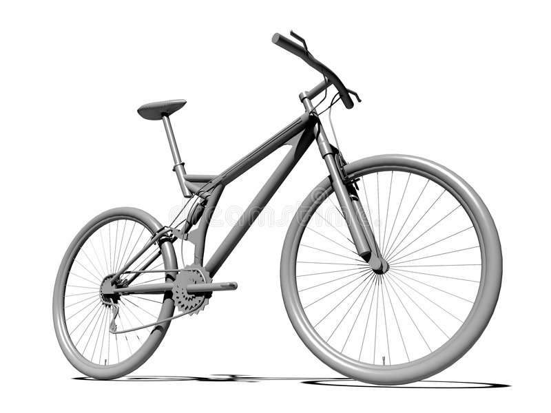 Lege fiets royalty-vrije illustratie