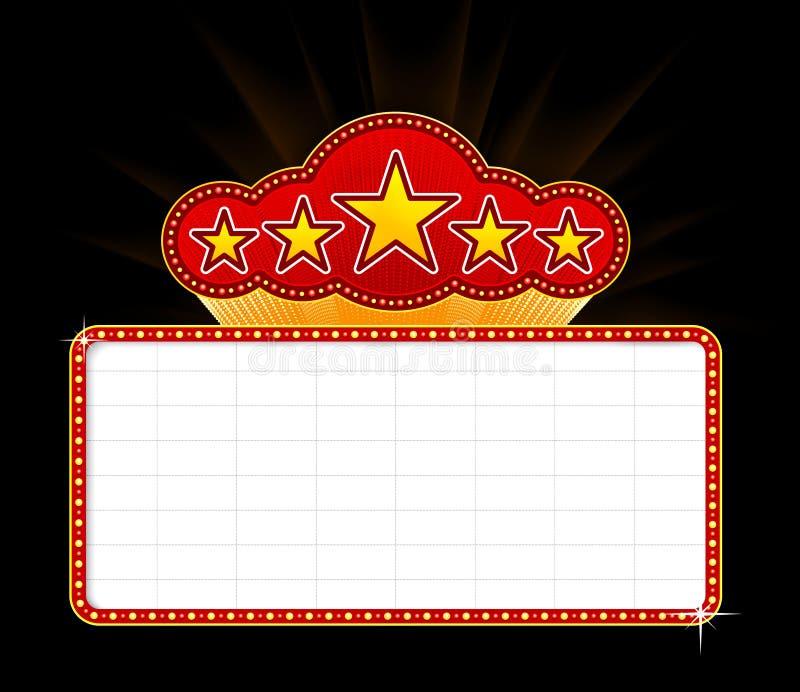 Lege filmmarkttent vector illustratie
