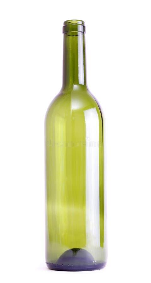 Lege Fles Wijn royalty-vrije stock afbeelding