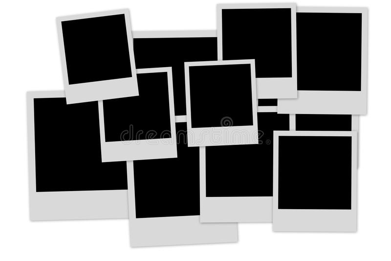 Lege fotoframes stapel stock illustratie