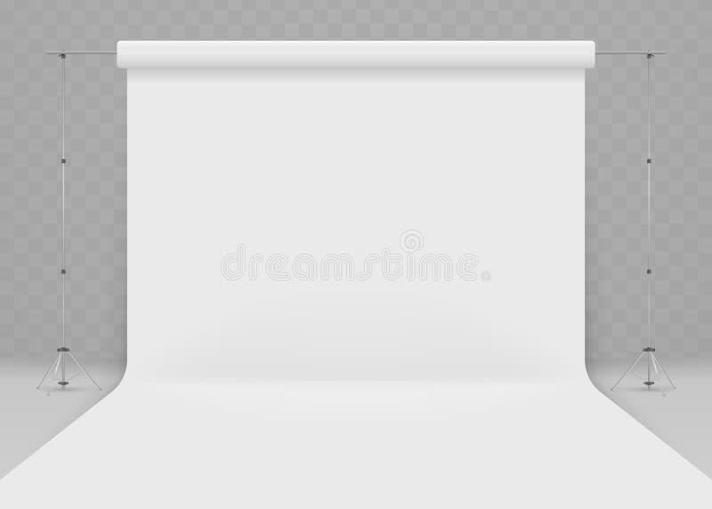 Lege fotostudio Realistische 3D malplaatjespot omhoog royalty-vrije illustratie