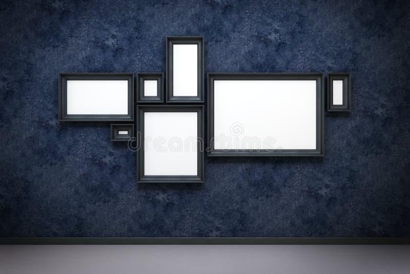 Lege frames in het album royalty-vrije illustratie