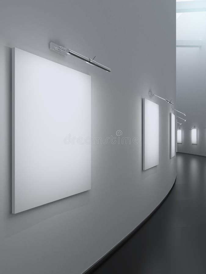 Lege galerijmuur stock illustratie