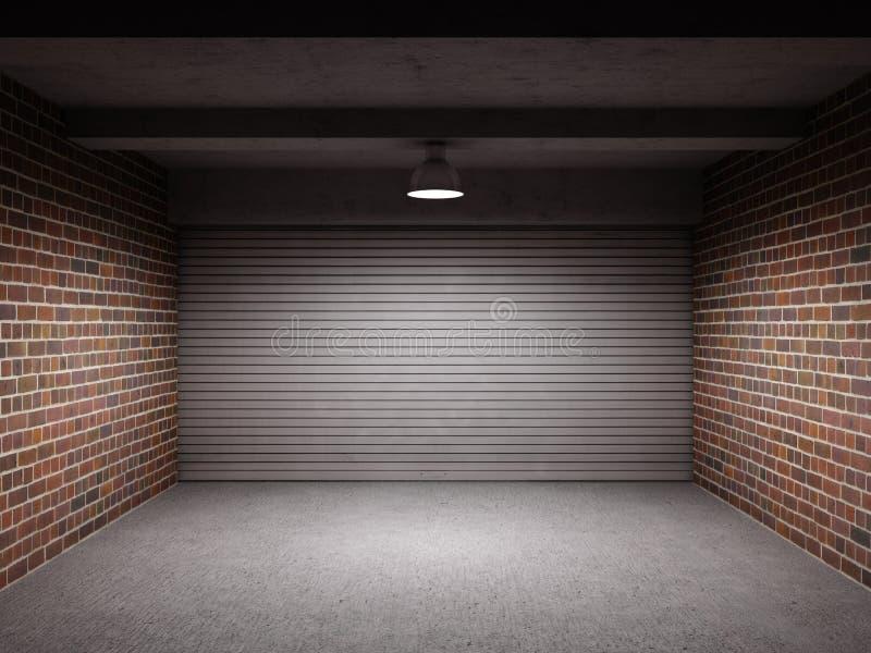 Lege garage stock afbeelding