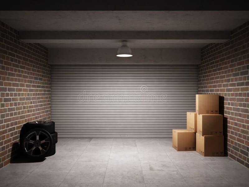 Lege garage royalty-vrije illustratie