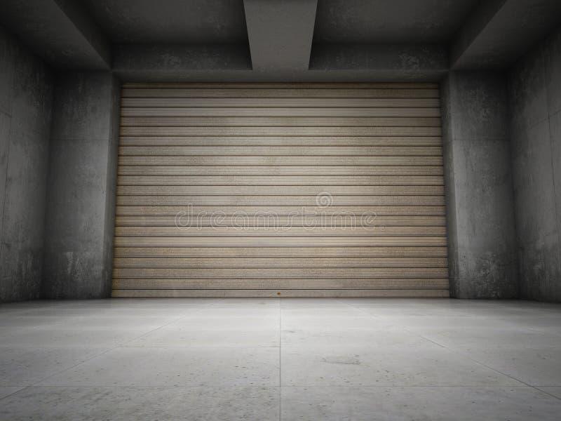 Lege garage vector illustratie