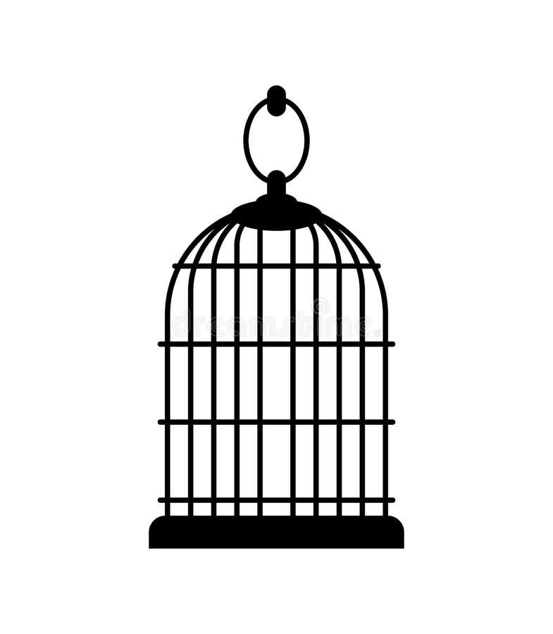 Lege geïsoleerde birdcage kooi voor brid Vector illustratie royalty-vrije illustratie
