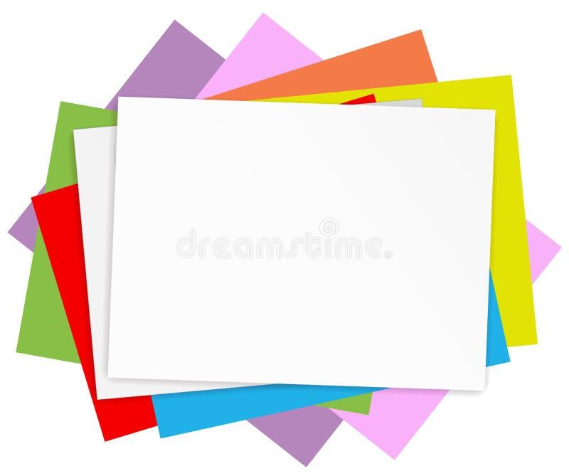 Lege gekleurde documenten stock illustratie