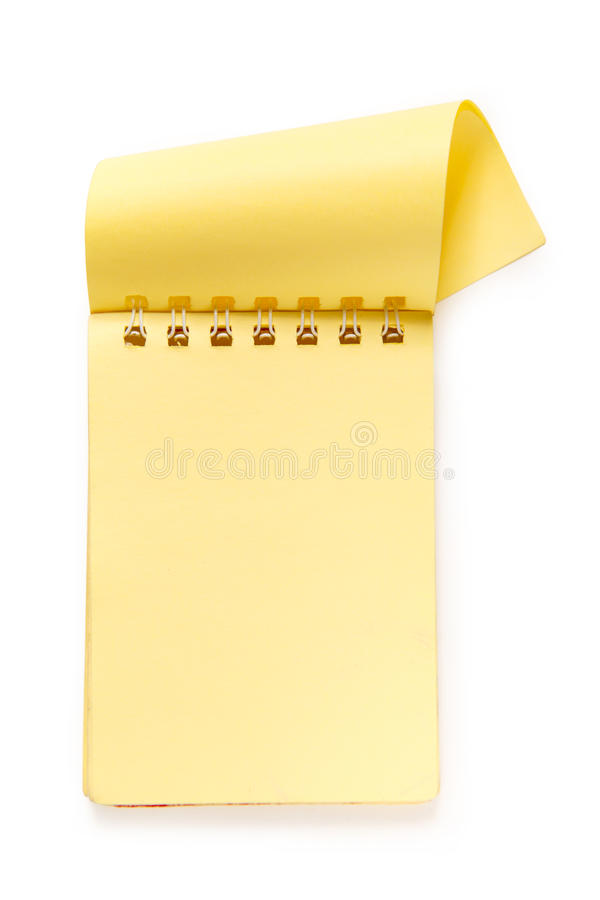 Lege gele blocnote royalty-vrije stock afbeelding