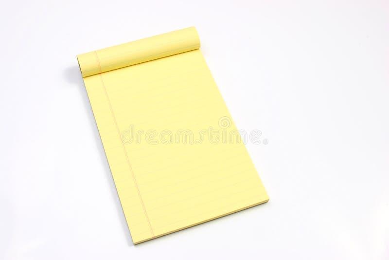 Lege gele horizontale pagina's royalty-vrije stock afbeeldingen