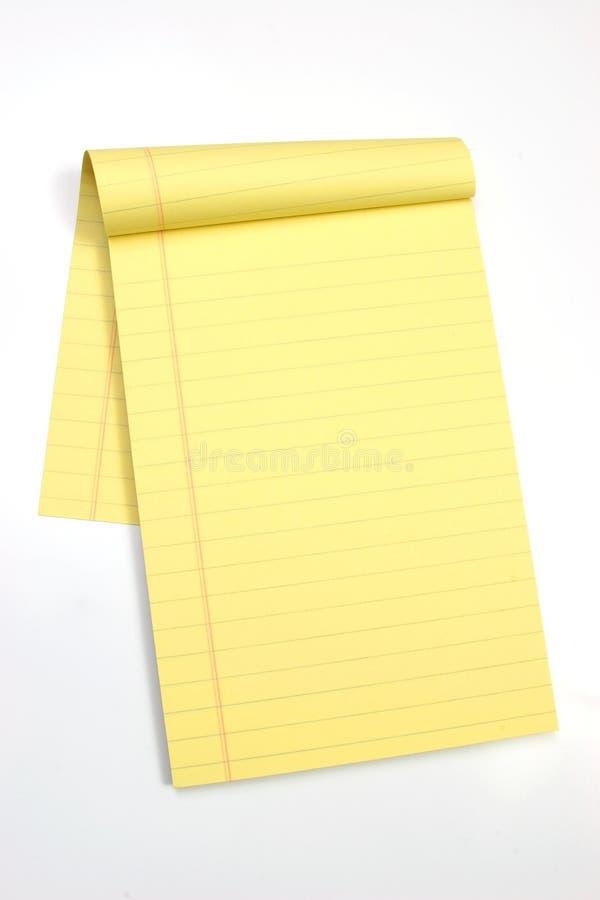Lege gele pagina'sverticaal stock foto