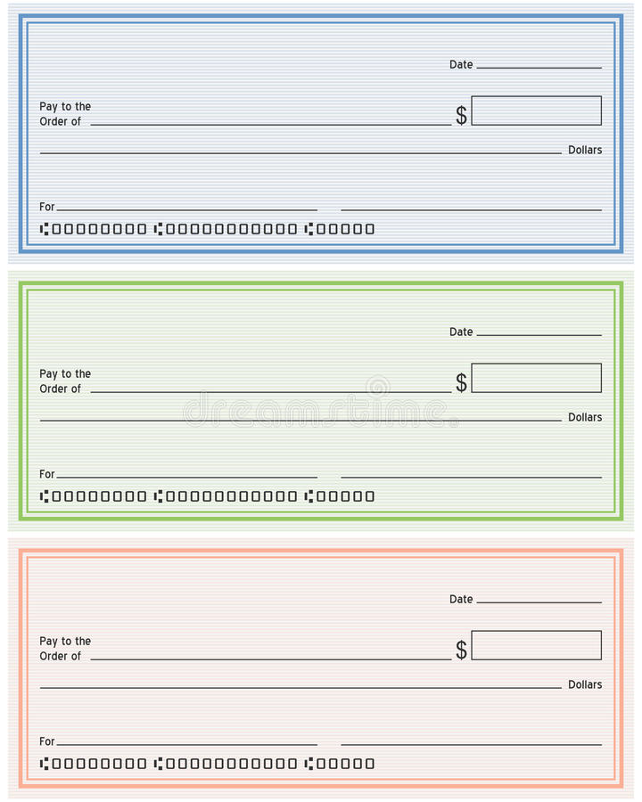 Lege Generische Cheques royalty-vrije illustratie