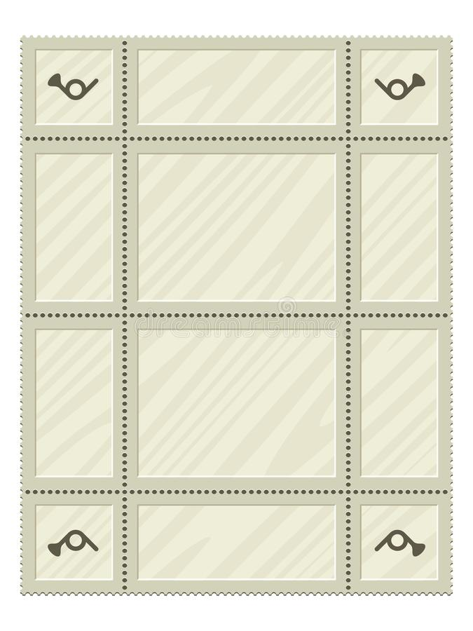 Lege geplaatste postzegels stock illustratie