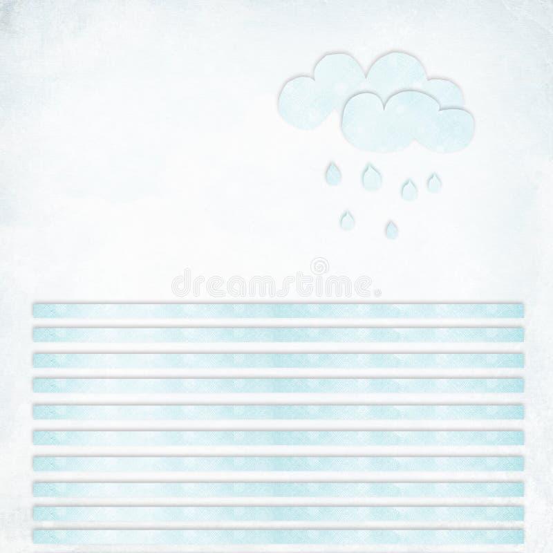 Lege geweven brief met lijnen en wolken stock foto's