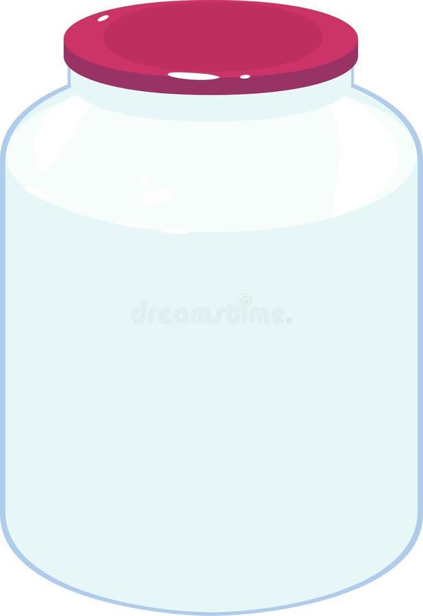 Lege glaskruik stock illustratie
