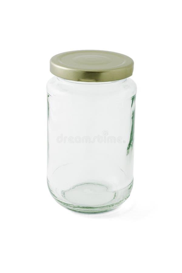 Lege glaskruik met GLB stock afbeelding