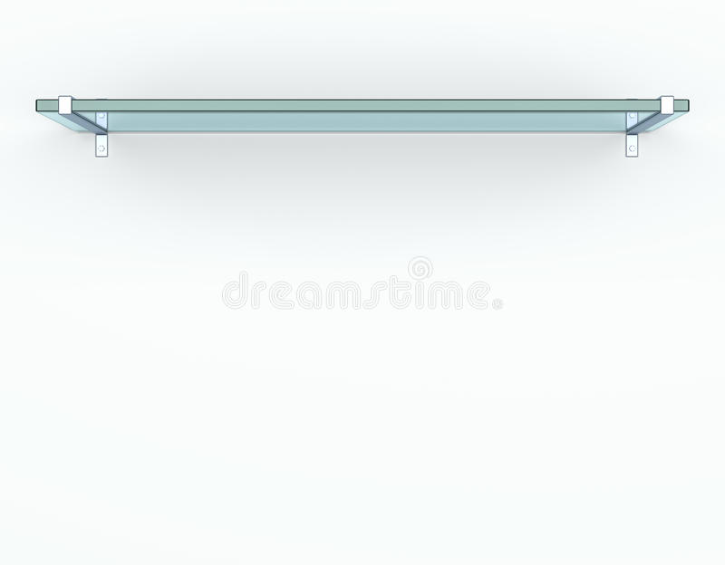 Lege glasplank stock illustratie