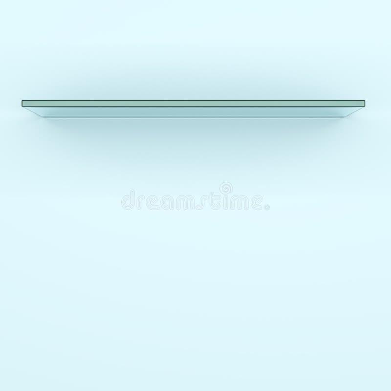 Lege glasplank royalty-vrije illustratie