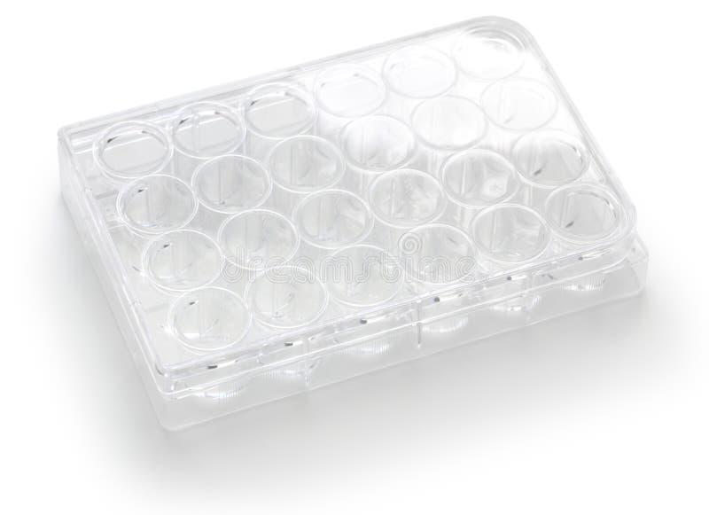 Lege goed weefsel 24 en celcultuurplaat stock afbeelding