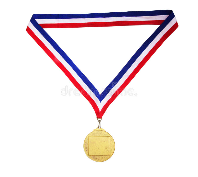 Lege gouden medaille stock fotografie