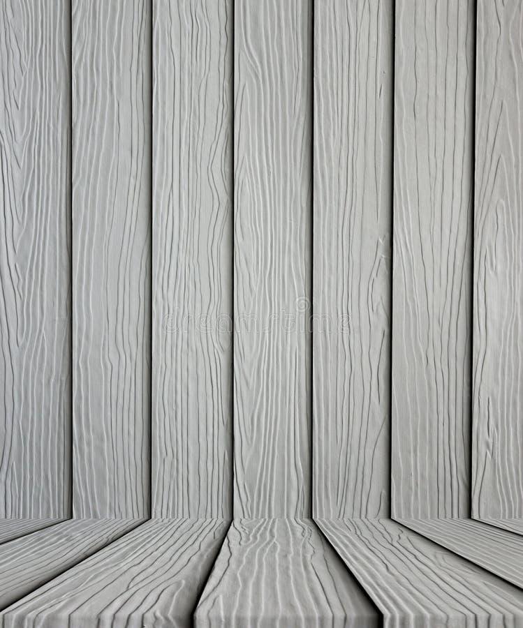 Lege grijze houten vloerachtergrond royalty-vrije stock foto