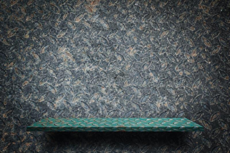 Lege groene metaalplank voor productvertoning vector illustratie