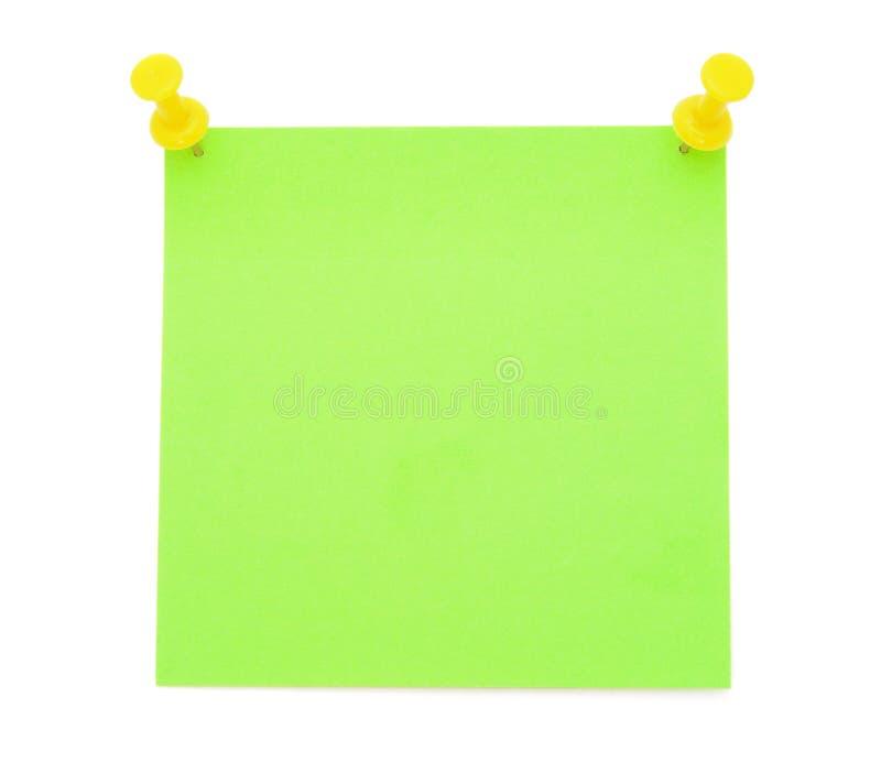 Lege groene post-itnota royalty-vrije stock afbeelding