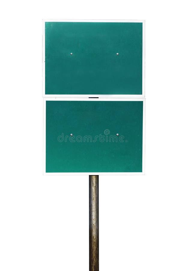 Lege groene verkeersteken stock afbeelding