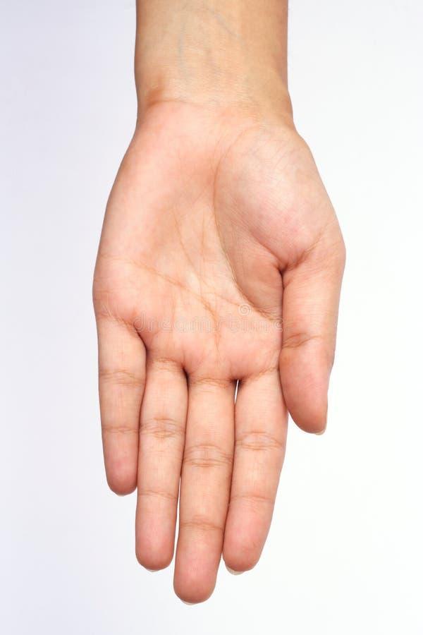 Lege hand stock fotografie