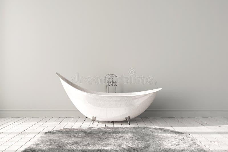 Lege heldere badkamers royalty-vrije stock afbeelding
