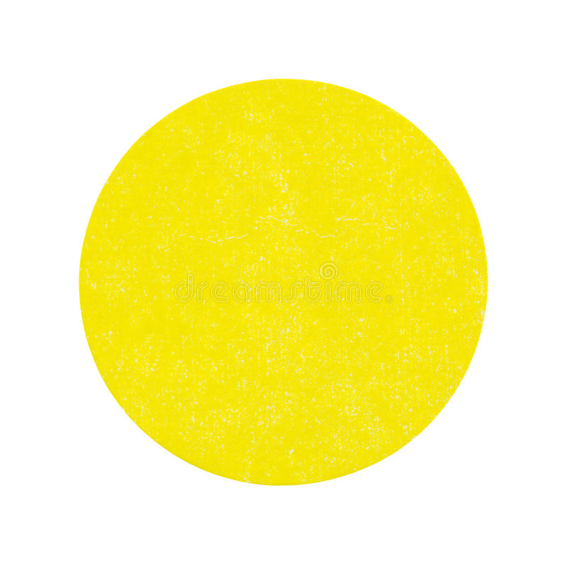 Lege heldere gele garage salesticker stock foto