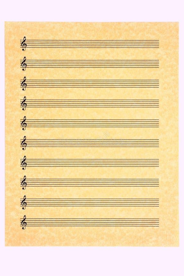 Lege het blad-Drievoud van de Muziek Sleutel royalty-vrije stock afbeeldingen