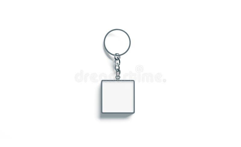 Lege het model hoogste mening van de metaal vierkante witte zeer belangrijke ketting stock foto