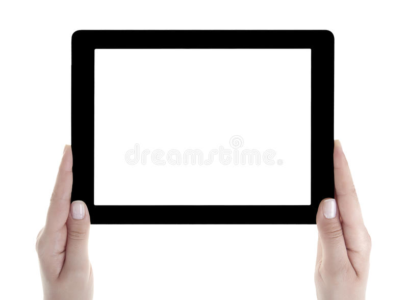 Lege het scherm Digitale Tablet van de handholding royalty-vrije stock fotografie
