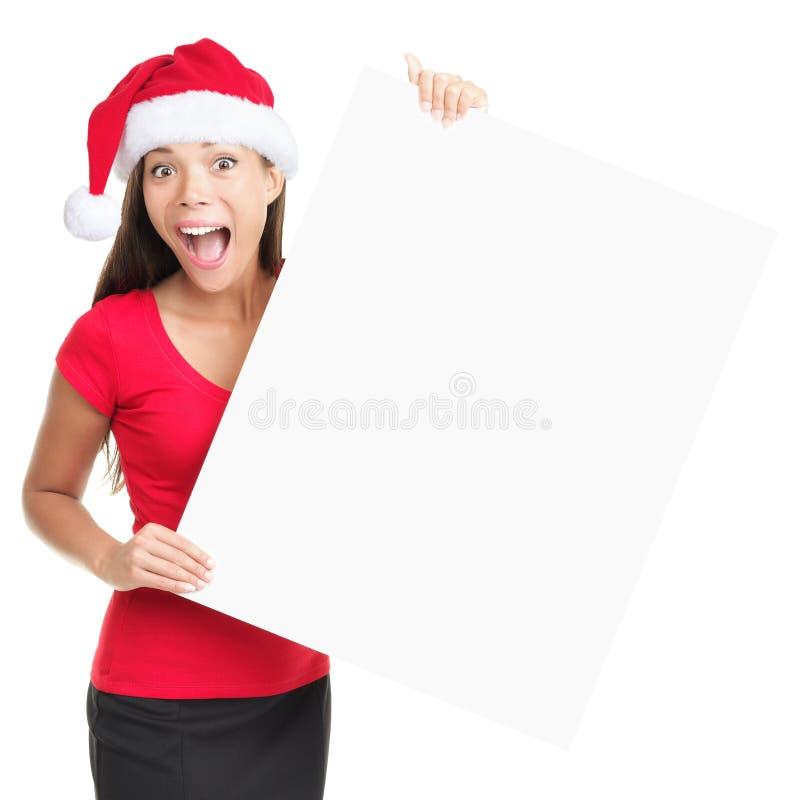 Lege het tekenvrouw van Kerstmis royalty-vrije stock fotografie