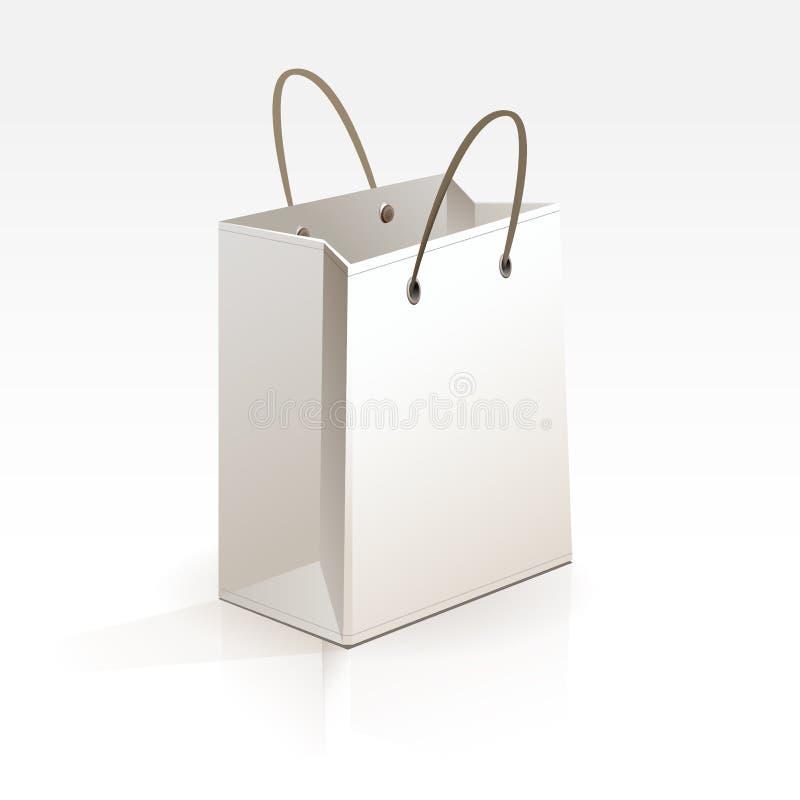 Lege het Winkelen Zak op Witte Achtergrond stock illustratie